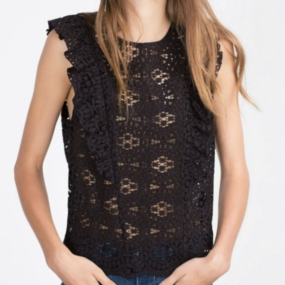 🔥3/$30 | Zara lace top